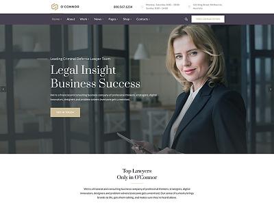Oconnor | Law Firm & Attorneys WordPress Theme wp theme wordpress page builder legal adviser lawyer wordpress theme lawyer lawyers law office lawfirm law creative business attorney