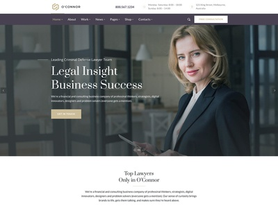 Oconnor | Law Firm & Attorneys WordPress Theme wp theme wordpress page builder legal adviser lawyer wordpress theme lawyer lawyers law office lawfirm law creative business attorney