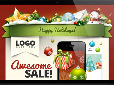 Christmas is coming! Download a free holiday email template! (psd.