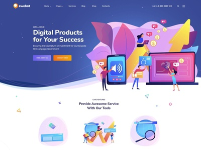 Ewebot - Marketing & SEO Digital Agency WordPress Theme