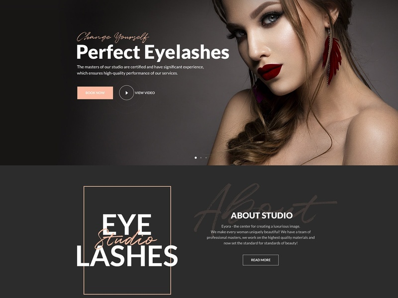 Eyora - Eyelash Extension & Lash Lift WordPress Theme whispy lashes volume lashes tinting perming lashes lash removal lash lift keratin lash lift individual lashes flat lashes eyelash extension eyebrow tinting double set lashes cat eye lashes beau eyelash studio