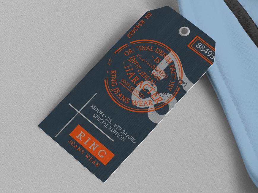Ring Hang Tag design illustration logo branding hang tag