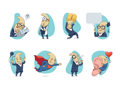 Sticker pack for charity foundation for the hearing impaired