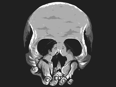 Shakespeare design dribble illustration couple skull hamlet romeo and juliet shakespeare