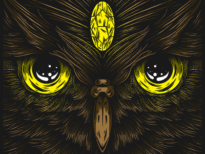 Owl dribbble design illustration