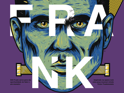 Still Frank poster branding vector dribbble design illustration