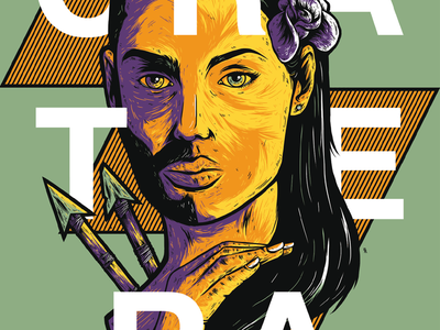 Cratera branding vector poster dribbble design illustration