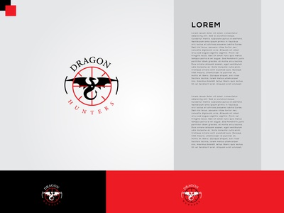 Dragon Hunters Logo Design