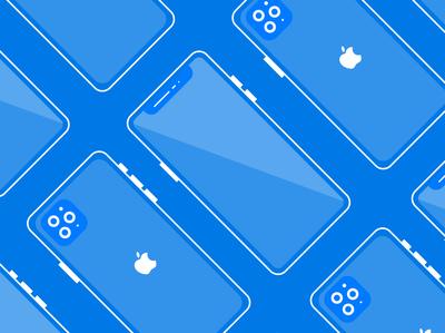 Minimal & Flat Mockup Design Of Iphone 11 Pro.