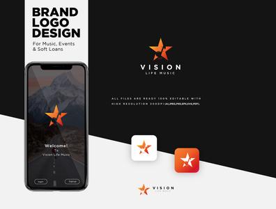 Vision Life Music Logo Design
