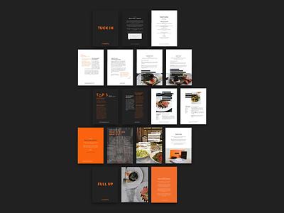 Brochure & Menu Design leaflet menu design graphic design brochure design brochure booklet food and drink