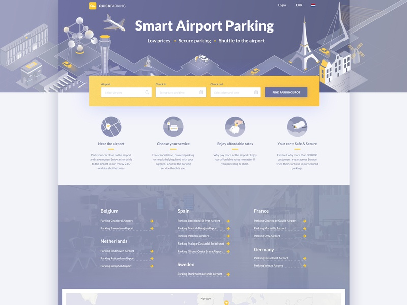 Quick Parking vector ux ui illustration