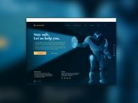 CryptoScam robot crypto blockchain ux ui illustration