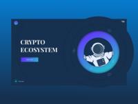 CRYPTO ECOSYSTEM space astronaut cryptocurrency design crypto ui illustration