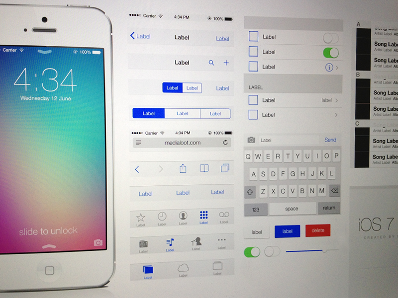 ios 7 ui kit free download psd by medialoot dribbble