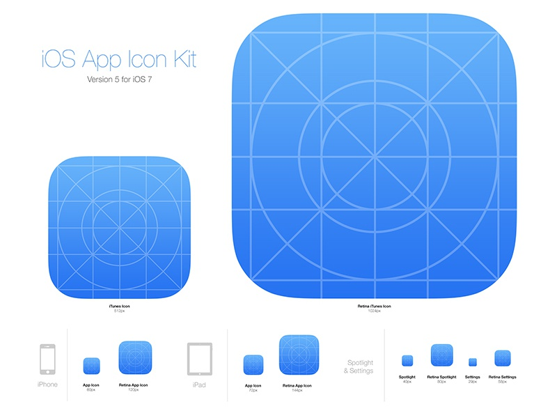 ios app icon kit by medialoot dribbble dribbble