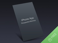 iPhone App Perspective Mock-up