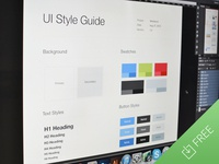 UI Style Guide Template (.psd)