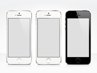 iPhone 5S - Free PSD Mock-up