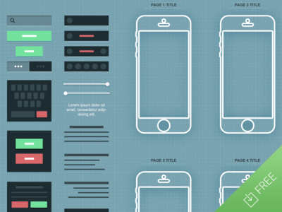 iPhone App Wireframe PSD