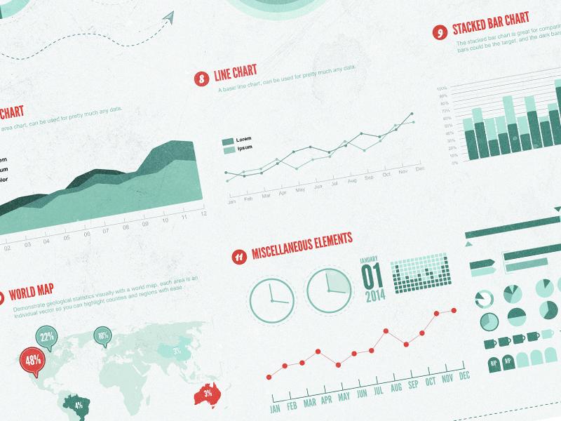 Vintage Infographic Kit infographic vintage vector