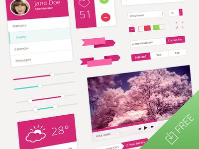 Pretty and Flat Ui Design Kit
