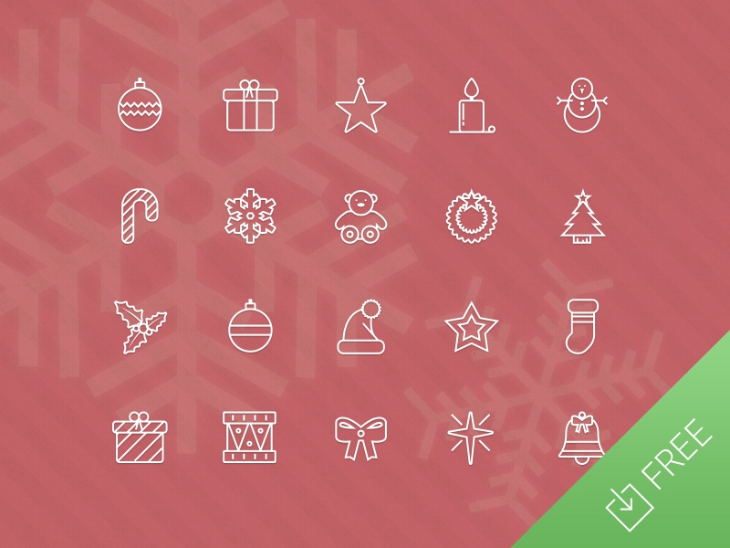 Vector Christmas Icons free icons christmas present snowman tree star santa holly snowflake holiday freebie