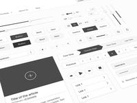 Minimal white UI kit