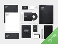 Free stationery branding mockup pack