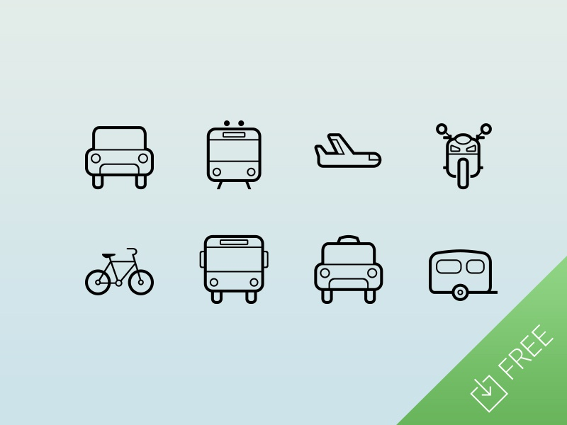 Transportation Icons travel thin freebie vector flat free icon icons ui minimal web