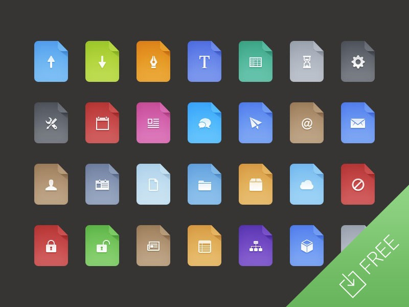 Flat Filetype Icons icon icons file filetype word powerpoint pdf psd document extension jpg