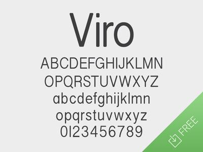 Viro font typography sans serif humanist condensed type free freebie