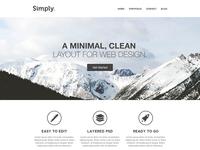 Simply web template