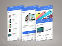 Shopped online app store UI