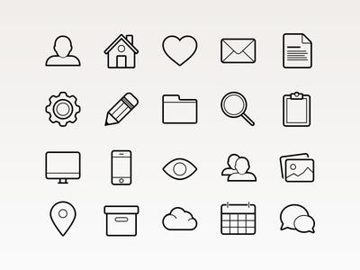 Basic Vector Icons