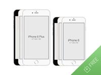 iPhone 6 - Free PSD Mockup