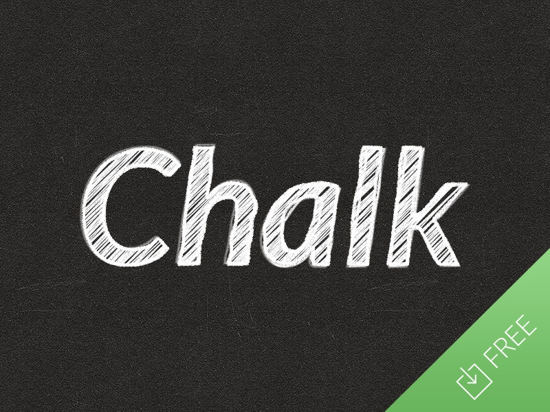 Chalk Text Effect photoshop text smart objects effect chalk chalkboard school typography