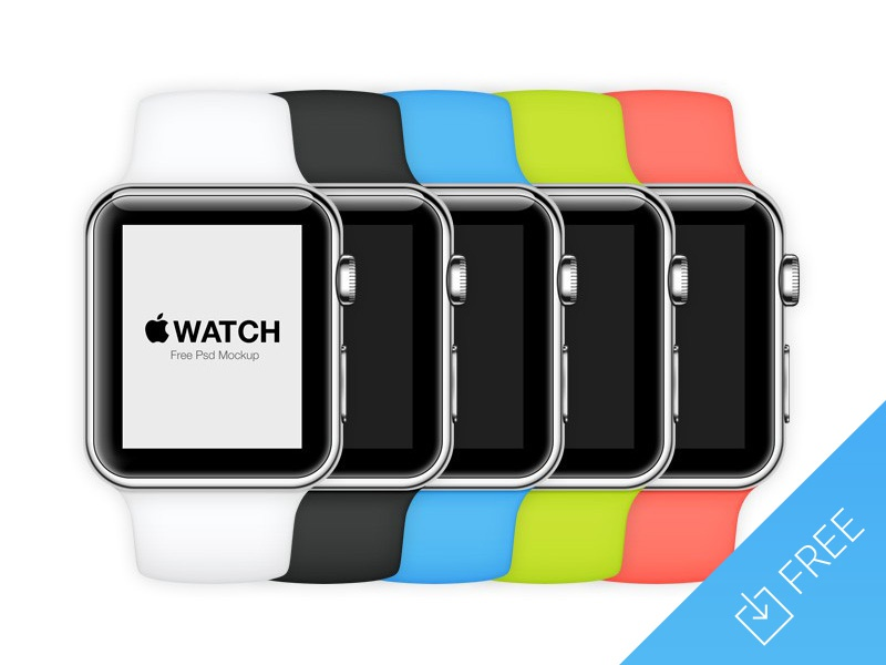 Apple Watch Mockup free freebie iwatch apple mockup presentation ui app
