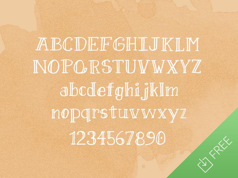 Sweet Pineapple Free Font free freebie font typography doodled hand drawn serif
