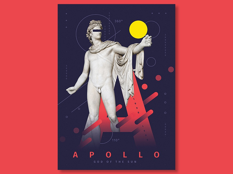Apollo poster design | poster collection 2018 illustration vector type poster art lettering flat poster collection typography poster graphic experimental typography design