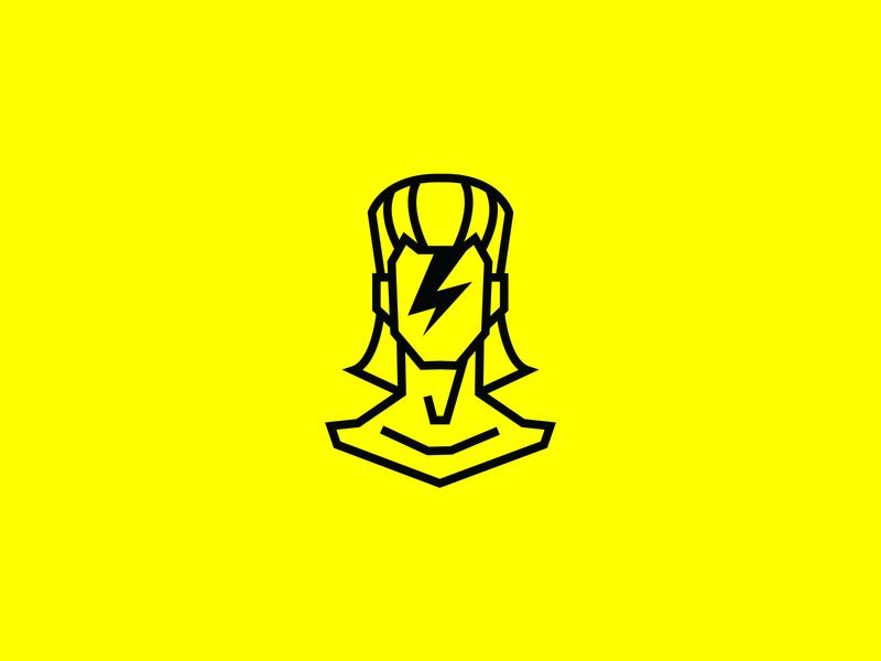 David Bowie pictogram digital adobe illustrator branding icon type flat typography poster art logo illustration vector poster graphic design
