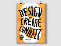 Design, create, connect poster design