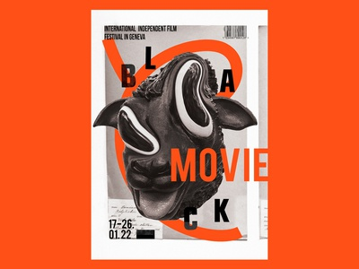Black movie poster design