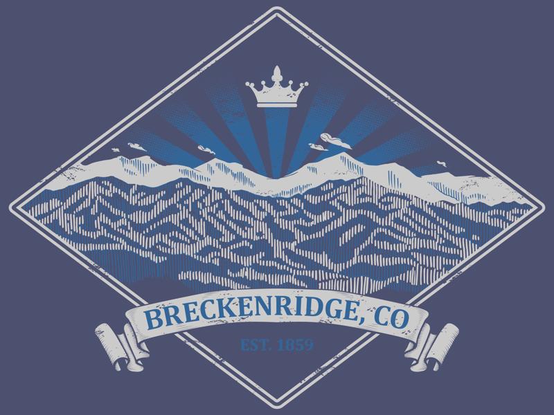 Kingdom of Breckenridge - Two color screenprint design