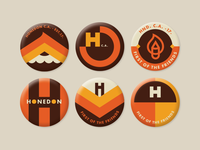 Honedon pin buttons