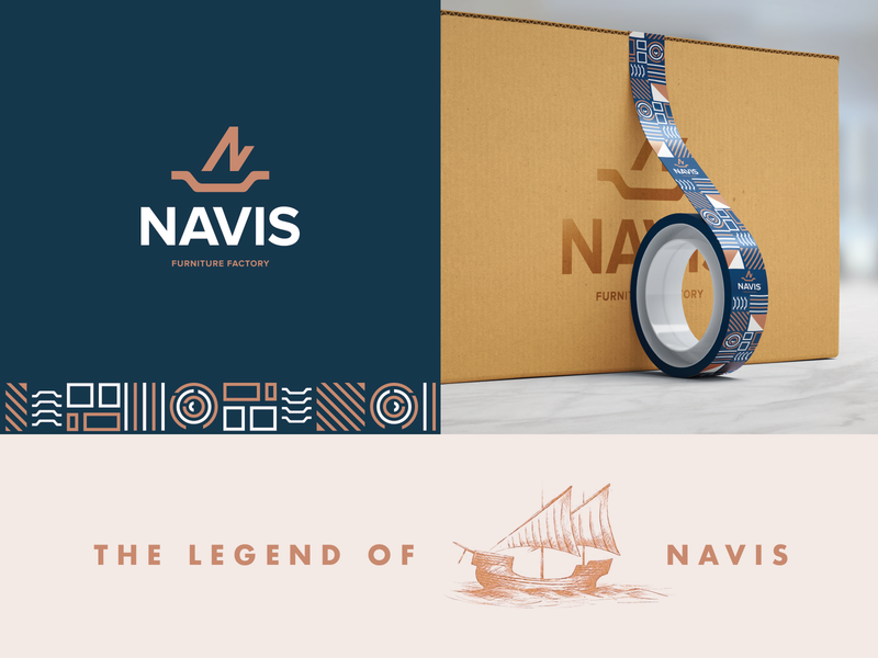 N for Navis packaging brand colors concept smart icon minimal branding identity logotype symbol logo n letter navis n