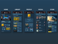 Steam Mobile App Mockup