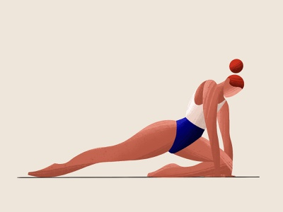 Fitness at home bright character character design ui illustration flat illustration illustration fitness app woman girl gymnastics home fitness