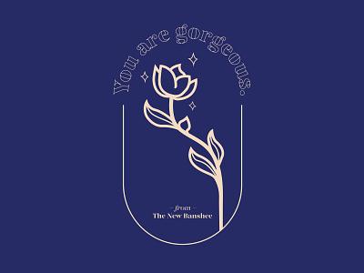 Happy Women's Day branding fashion rose logo typography minimal logo design icon
