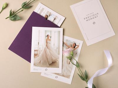 Ivory Bridal fashion corporate identity elements branding graphic  design typogaphy elegant design corporate card